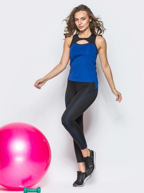 Комплект для фитнеса с вырезом на майке - 12802, фото 2 – интернет-магазин Dressa