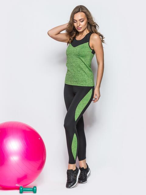 """Комплект для фитнеса со вставками из """"рябой"""" ткани - 12797, фото 2 – интернет-магазин Dressa"""