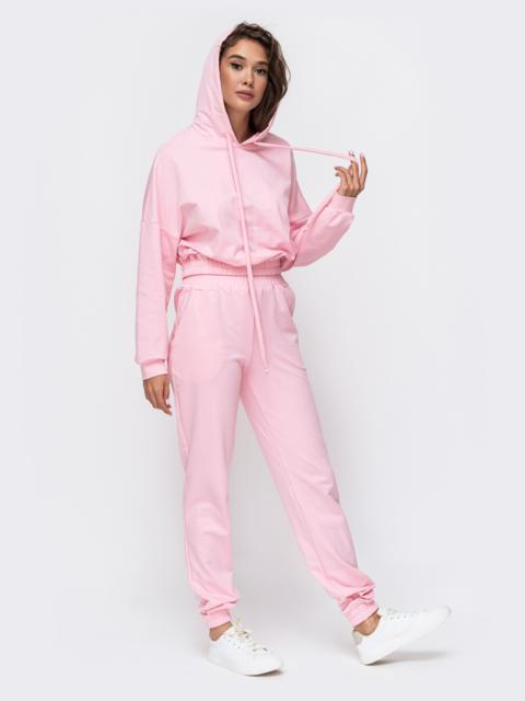 Спортивный комплект с капюшоном розового цвета  49355, фото 1