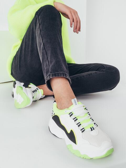 Белые кроссовки с контрастными вставками 51417, фото 1