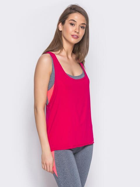 Майка для фитнеса oversize розовая - 10692, фото 1 – интернет-магазин Dressa