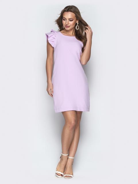 Сиреневое платье-трапеция с V-вырезом по спинке - 21388, фото 1 – интернет-магазин Dressa
