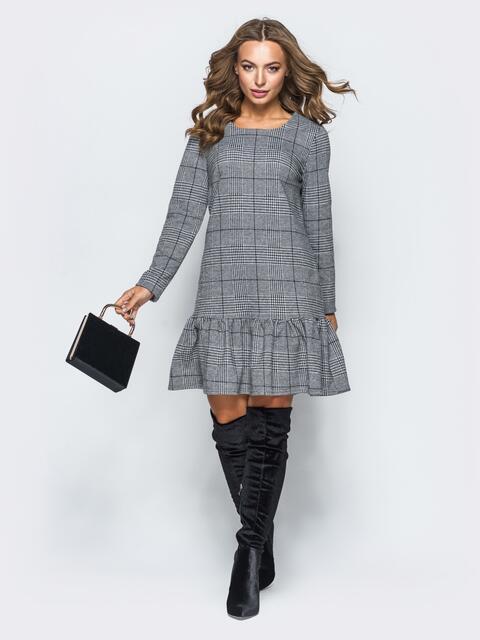 Платье А-силуэта с воланом по низу - 17278, фото 1 – интернет-магазин Dressa