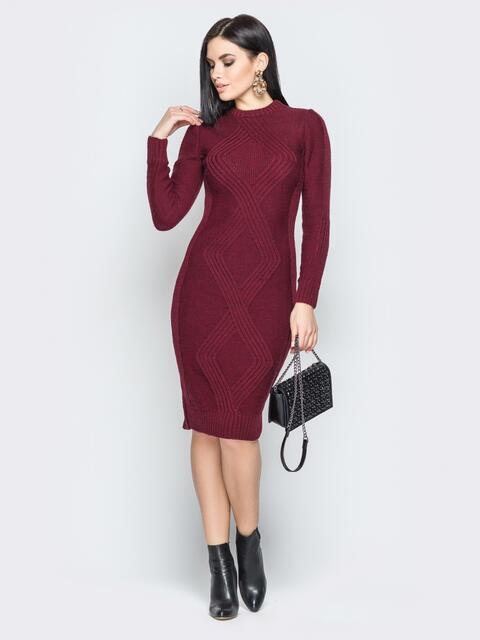 155893f1047 Вязаное платье с
