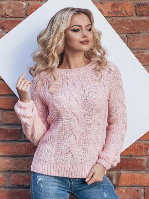 Розовый джемпер с длинным рукавом реглан - 15800, фото 1 – интернет-магазин Dressa