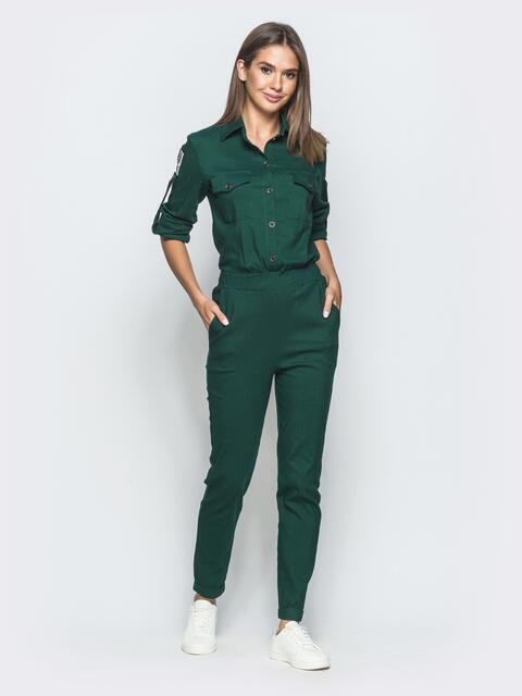 Зеленый комбинезон с стиле сафари 39787, фото 1