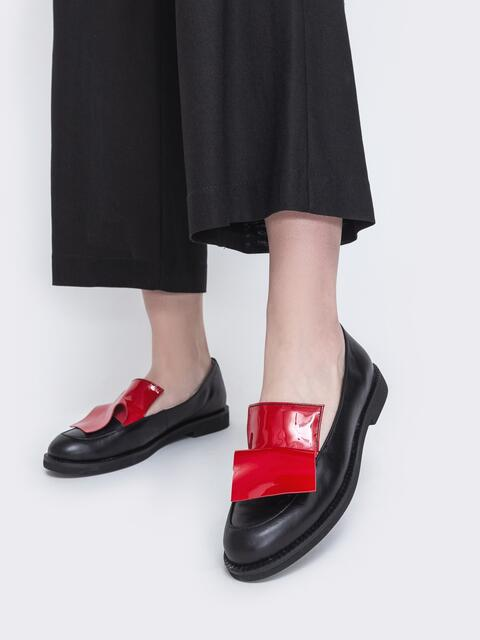 Чёрные туфли на плоской подошве 47515, фото 1