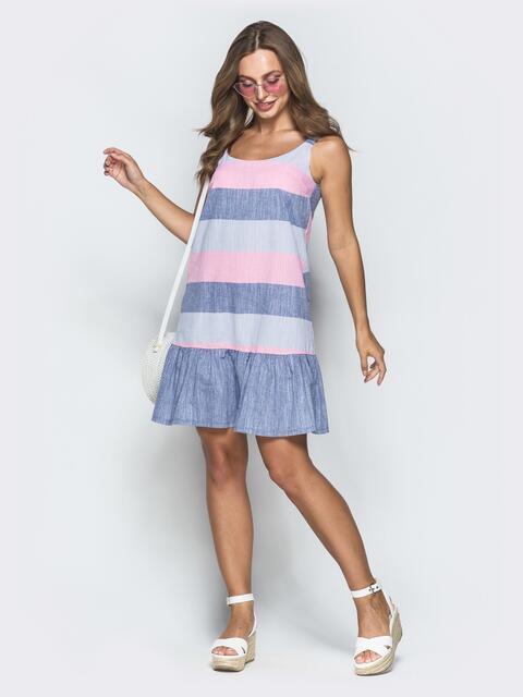 Платье в розовую полоску - 39327, фото 1 – интернет-магазин Dressa