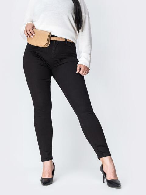Чёрные джинсы со стандартной посадкой - 42454, фото 1 – интернет-магазин Dressa