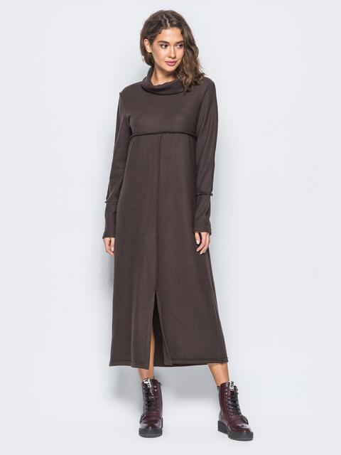 Платье в стиле oversize с разрезом спереди - 17464, фото 1 – интернет-магазин Dressa