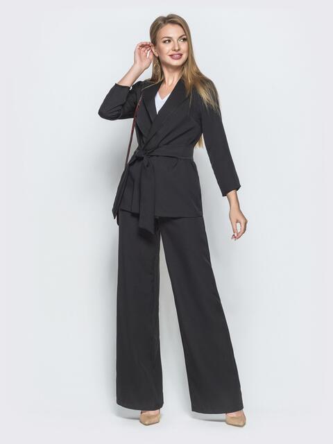 Комплект из жакета и широких брюк чёрный 39984, фото 1
