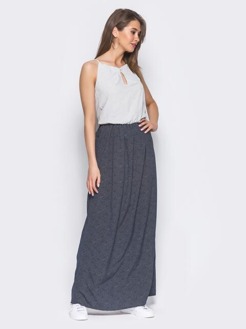 Платье с вырезом на полочке и узкими бретелями - 11339, фото 2 – интернет-магазин Dressa