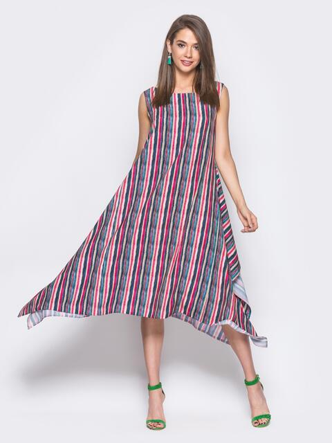 Красное платье расклешенное к низу - 11661, фото 1 – интернет-магазин Dressa