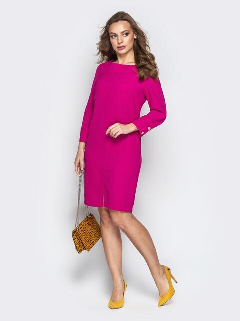 Платье с фигурным вырезом на спине фуксия - 20802, фото 1 – интернет-магазин Dressa