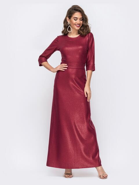 Красное платье-макси с напылением и юбкой-трапеция 42739, фото 1