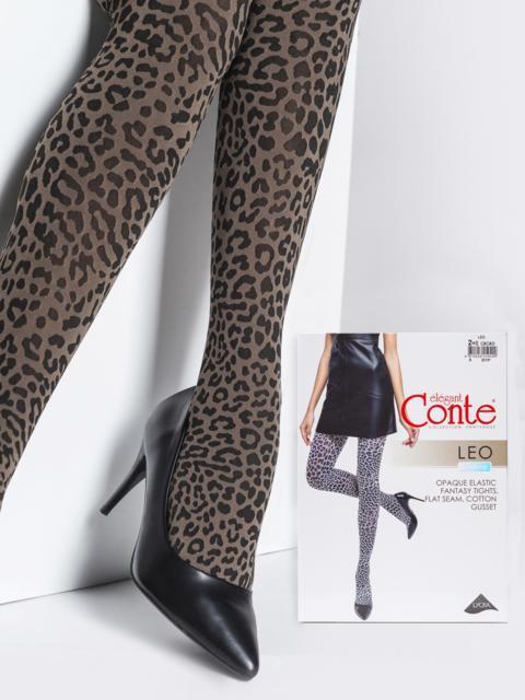 Колготки Conte с леопардовым принтом 50 den 43439, фото 1