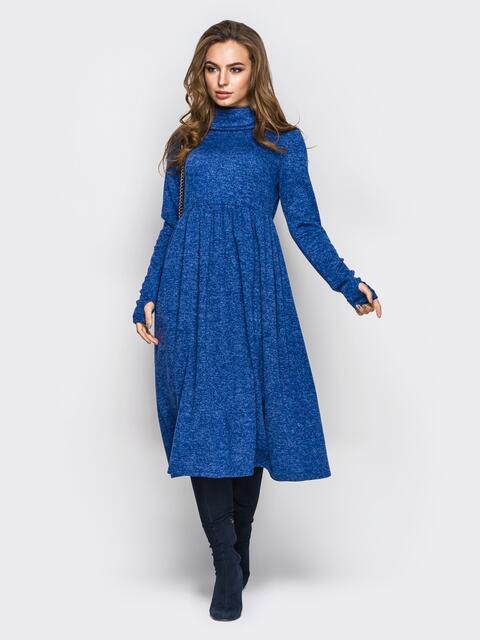 Платье с воланом и высоким воротом 13714, фото 1