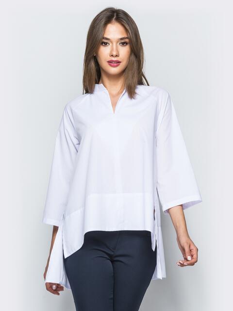 Блузка со шлейфом и вырезом на горловине - 17016, фото 1 – интернет-магазин Dressa