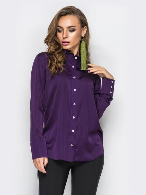 4ac05a2cd25 Фиолетовая розовая блузка с длинными рукавами 12255 – купить в Киеве ...