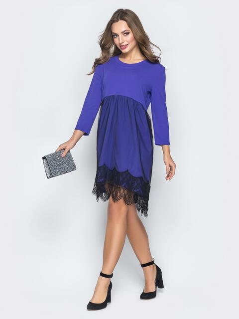 12cd17860d9 Фиолетовое платье с кружевом и фатиновой юбкой 18595 – купить в ...