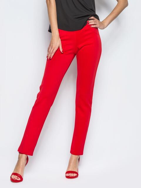 Красные леггинсы с карманами сзади - 12787, фото 1 – интернет-магазин Dressa