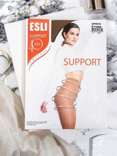 Бежевые моделирующие колготки Esli Support 40 den  43467, фото 1