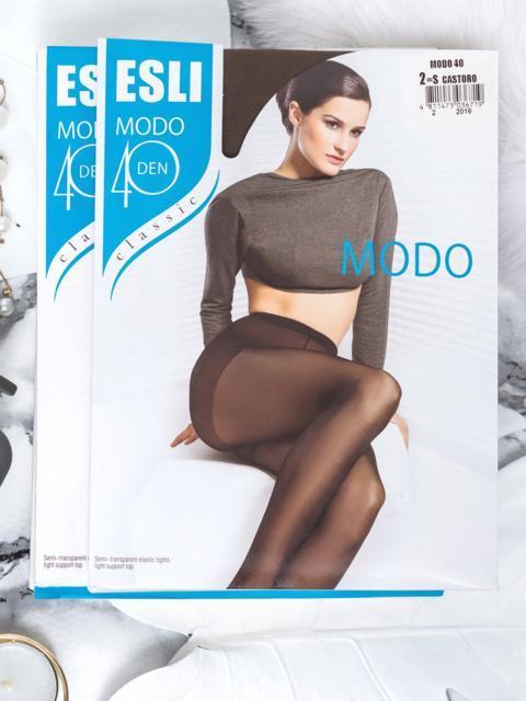 Коричневые колготки Esli Modo 40 den 43463, фото 1