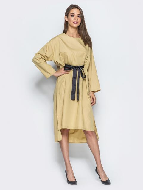 Платье oversize с кулиской на поясе - 14620, фото 1 – интернет-магазин Dressa