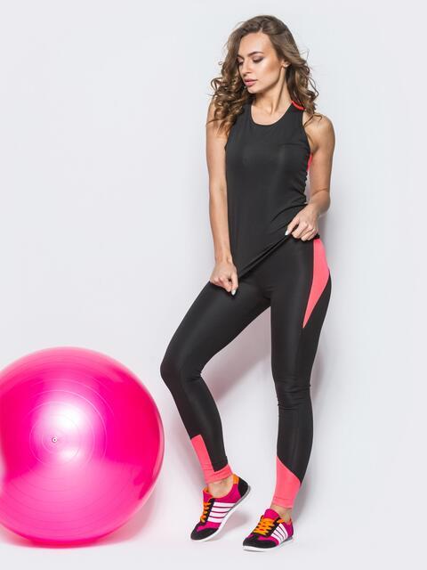 Комплект для фитнеса с персиковыми вставками - 10490, фото 1 – интернет-магазин Dressa