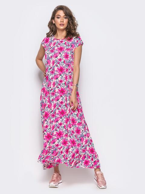 Платье в пол свободного кроя - 10983, фото 2 – интернет-магазин Dressa