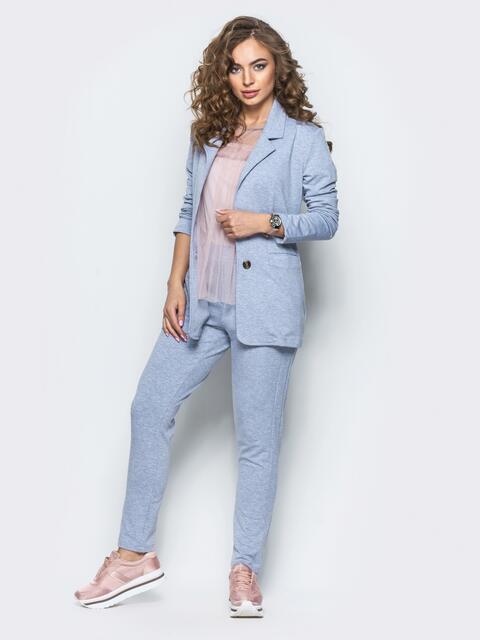 Комплект с брюками на резинке светло-серый 12723, фото 1