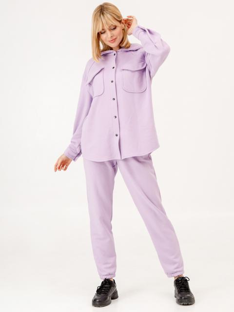 Фиолетовый костюм из кофты с капюшоном и штанов 53257, фото 1