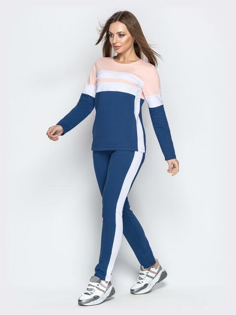 Спортивный костюм синего цвета с зауженными штанами - 21306, фото 1 – интернет-магазин Dressa