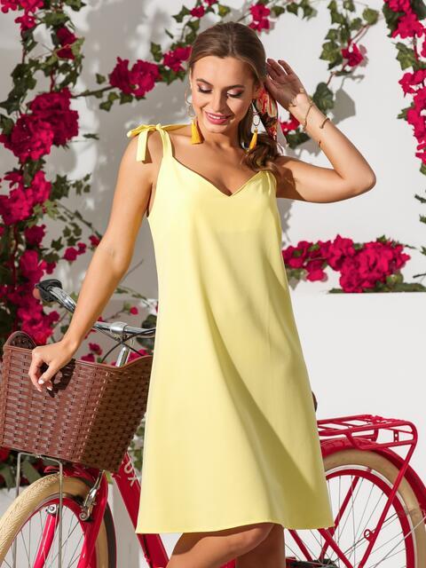 Желтый сарафан на регулируемых бретелях - 39330, фото 1 – интернет-магазин Dressa