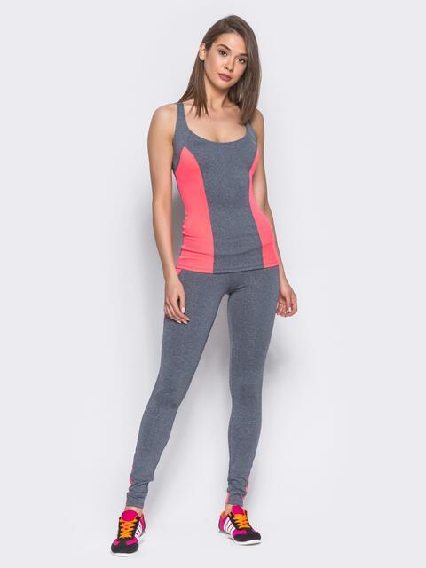 Комплект для фитнеса с розовыми вставками - 10494, фото 1 – интернет-магазин Dressa