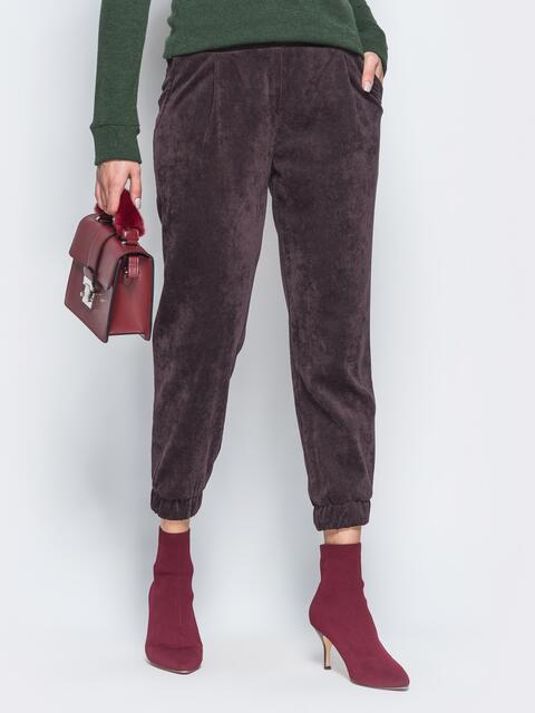 Укороченные брюки из вельвета - 17758, фото 1 – интернет-магазин Dressa