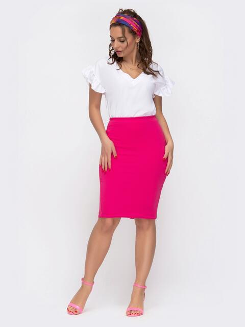 Комплект из юбки и блузки розовый - 46621, фото 1 – интернет-магазин Dressa