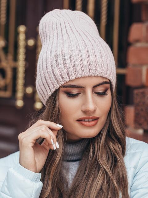 Шапка-чулок без подкладки розовая - 15589, фото 1 – интернет-магазин Dressa