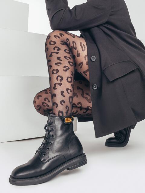 Демисезонные ботинки со шнуровкой чёрные 51801, фото 1