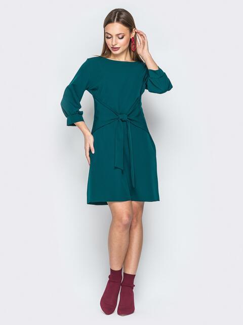 600da82a6685d5c Зелёное платье с рукавом