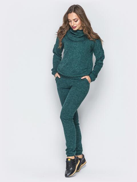 Зелёный комплект из ангоры с брюками на резинке - 18811, фото 1 – интернет-магазин Dressa