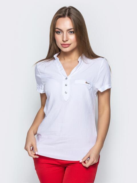 d8d55105220 Приталенная блузка белого цвета 21873 – купить в Киеве