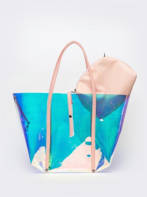 Прозрачная сумка-тоут с бежевым кошельком - 39332, фото 1 – интернет-магазин Dressa