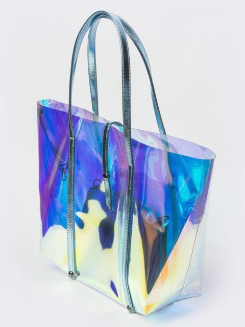 Прозрачная сумка-тоут с бирюзовым кошельком - 39333, фото 1 – интернет-магазин Dressa