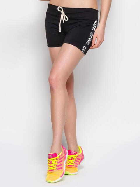 Черные шорты с надписью на лампасах - 12869, фото 1 – интернет-магазин Dressa