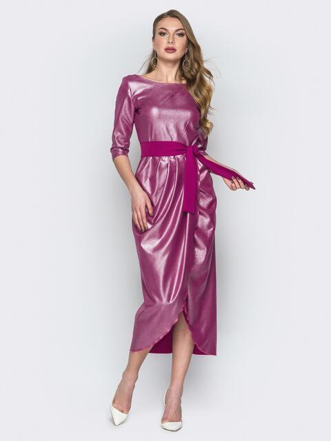 Розовое платье с напылением и юбкой-тюльпан - 19752, фото 1 – интернет-магазин Dressa