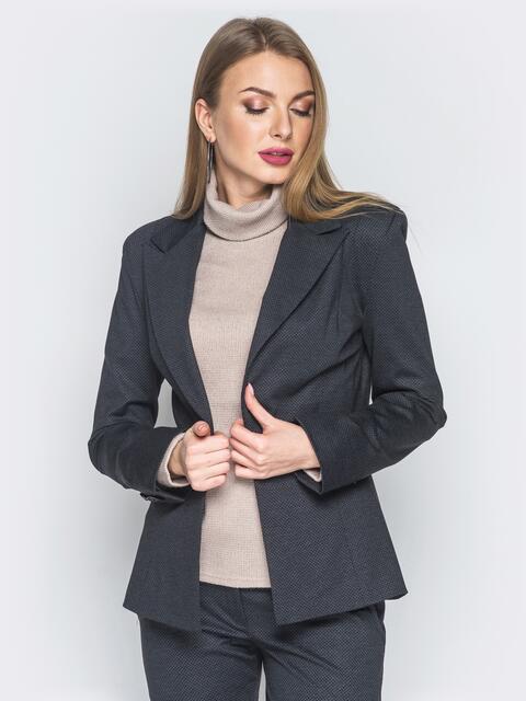 Жакет из костюмной ткани с подплечниками - 14431, фото 1 – интернет-магазин Dressa