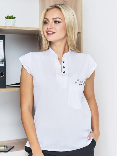 Блузка с рукавом-крылышко и карманом - 14135, фото 1 – интернет-магазин Dressa