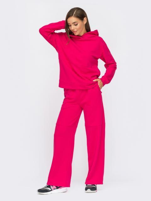 Спортивный костюм с худи и брюками розовый 55102, фото 3