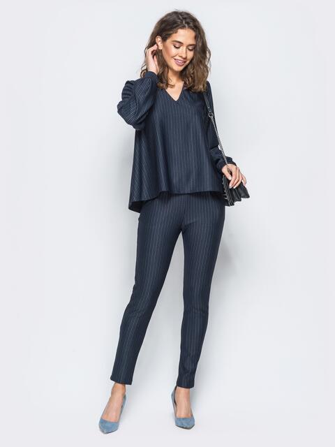Комплект с облегающими брюками и расклешенной кофтой - 17455, фото 1 – интернет-магазин Dressa